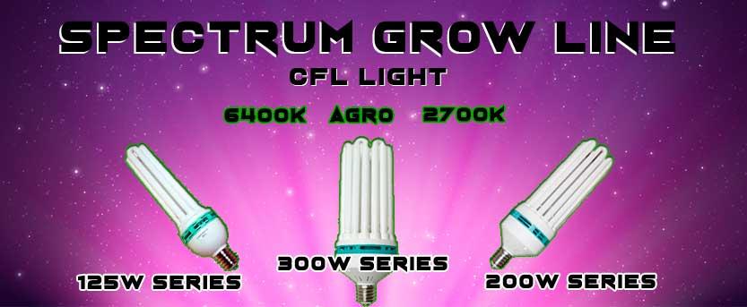 lampada fluorescente spectrum grow cfl